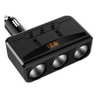 2 USB car phone holder charger with 3 cigarette lighter socket HY29