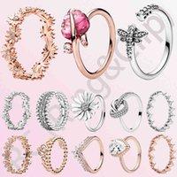 Designer Ringen Luxe Love Ring Klassieke 100% 925 Sterling Zilveren Prinses Tiara Crown Springling Heart, CZ voor Dames Engagement Sieraden Anniv