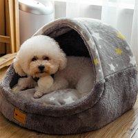 Kennels Bells Warm Pet House Puppy Kennel Mat para Perros Animales Cat Gatito Nido Pequeño Cesta Pequeño Teddy Chihuahua Cave Perro Cojín de cama