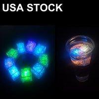 Altro LED Illuminazione impermeabile Cubetto di ghiaccio 7 Colore lampeggiante Glow nelle luci notturne scure per il café bar club bevente del vino Decorazione di nozze Decorazione USA