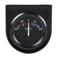 Multímetros de 2 polegadas 52mm 12v carro LED Ponteiro Auto Barco Amp Medidor 60-0-60 Preto