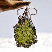 Moldavite naturale Green Energy Energy Pendente in pietra per uomini e donne Collana Collana Belle gioielli LJ201016