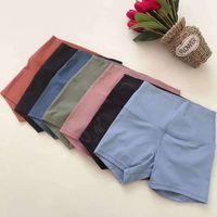 Shaping 2021 Pantaloni da yoga Pantaloni LU Donne Altamente elastici Tessuto flessibile Esecuzione leggero Sensazione di allenamento Allenamento Abiti da donna Stanze Tights Pantaloncini solidi leggings