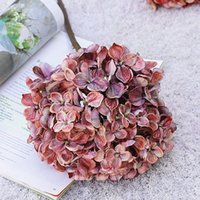 Decorative Flowers & Wreaths Luxury Dried Looking Large Hydrangea Flower Short Branch Fall Decoration Silk Artificial Po Props El Decor Flor