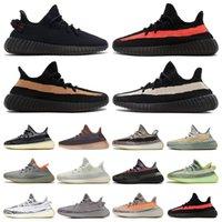 Adidas Yeezy 350 V2 Zapatos de diseño Niños Estática Sésamo Mantequilla Kanye West v2 Zapatillas de deporte Cebra zapatillas True Form Beluga Moonrock Oxfod Tan Pirata TRFRM