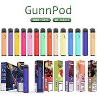 Gunnpod Puff Bar 2000 Puffs Vape-Stift-Einweg-Zigaretten-Geräte-Kit-Kartuschen 1250mAh vorgefüllt 8ml POD 20 Farben vs Bang XXL Geekbar RM auf Lager Großhandel