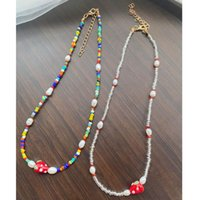 Chokers Korea Small Fresh Strawberry Freshwater Pearl Necklace Clavicle Chain