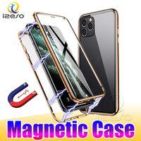 Магнитные чехлы адсорбции для iPhone 13 12 Pro Max 11 XR 8 плюс ударопрочный с двойным закаленным стеклом.