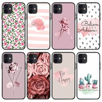Clear Floral Antiurto Antiurto Donne Girls Cell Phone Custodie per iPhone 13 12 11 Pro Max XR XS 8 7 Plus IMD Beautiful Flower Pattern Copertura cellulare