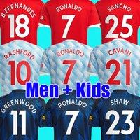 RONALDO 21 22 SANCHO Manchester soccer jersey UNITED Fans Player version MAN BRUNO FERNANDES LINGARD POGBA RASHFORD football shirt UTD 2021 2022 men