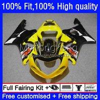 Feedings de molde de injeção para suzuki luz amarela GSX-R1000 GSXR1000 K2 00-02 Bodywork 24no.28 GSXR 1000 CC 1000CC 00 01 02 GSXR-1000 2000 2002 Bodys de Motocicleta OEM