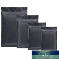 Venta al por mayor 100pcs Matte Matte Black Aluminio Lock Zip-Lock Packaging Bag Zipper Heberal Powder Capsule Panties Socks Almacenamiento Fábrica Precio Diseño Experto