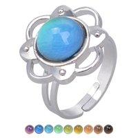 Venda quente de moda charme quente humor cor mudando anel ajustável 811 Q2