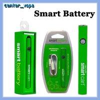 Mais recentes Carrinho Inteligente Vape Vape 510 Cartuchos 380mAh Variável Tensão Pré-aquecimento Smartcart Baterias com carregador USB Evod Law