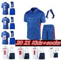 Ngland 축구 유니폼 2021 Kane Foden Sterling Mount Rashford Sancho Henderson Barkley Maguire Lingard 20 22 National Football Shirts Kids Kit Uniforms