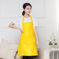 2021 Kochen Backschürze Massivfarbe Küche Schürze Restaurant Schürzen Für Frauen Home Sleeveless Schürze 10 Farben Großhandel Fast Ship