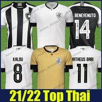 Camisa de Botafogo Futebol Jerseys 2021/22 Honda Kalou M.Benevenuto Matheus Babi Football Jersey Pedro Raul Victor Luis Fans Camisas 21/22 mangas curtas Top de secagem rápida