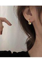 Silver Two Wear Methods Small Circle Rhinestone Stud Earrings Women Unique Design Fashion Light Luxury Jewelry