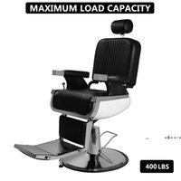 Hand Hydraulic Recline Barber Chair Salon Furniture, for Hair Stylist Heavy Duty Tattoo Chairs Shampoo Beauty Equipment sea shipEWE9546