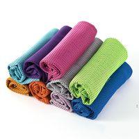 90 * 30 cm Eis kaltes Handtuch Sommerkühlung Sunstroke Sport Übung Yoga Handtücher Schal Schnell trockene weiche atmungsaktive Handtuch Sportversorgung OWF6110