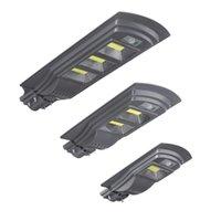 Augienb Solar Powered 20w / 40W / 60W COB LED Straßenleuchte PIR-Bewegungsradarsensor Wasserdichte Gartenlampe + Fernbedienung - 100cob