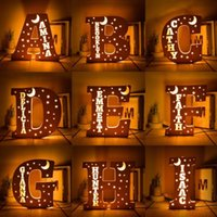 Novelty Items Personalized Wooden Letter Light Wall Decor LED Night Custom Name Sign Home Decoration Christmas Gift For Family,Kid
