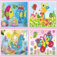 4 шт. / Лот DIY алмазные наклейки ручной работы хрустальная паста роспись мозаичные игрушки головоломки случайные цвета дети детские наклейки игрушка подарок WYQ 1267 Y2