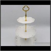 12 3tier 스테인레스 스틸 라운드 컵케익 결혼 생일 케이크 스탠드 디스플레이 타워 주방 도구 플레이트는 inlcuded foqtb 8EBPR이 아닙니다