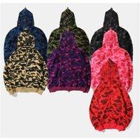 Причинные мужчины Камуфляж с капюшоном Куртки с капюшоном Флис толстовки камуфляж пуловер свитер HIP-хоп толстовка улица S-3XL 1580 #