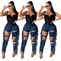 Последние листинг тощий для женских разорванных отверстий Джин Мотоцикл Байкер Джинсовые штаны Бренд Модный дизайнер Хип-хоп Женщины Джинсы