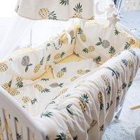 Kinder Bettwäsche Bettprodukt Vier oder fünf Papiersatz Reine Baumwollabwehrkollide kann unpacken und Waschen voller Baumwolle-Bumper-Kissen 893 V2