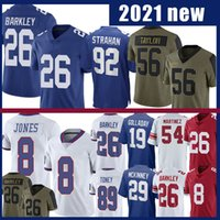 "Daniel Jones Saquon Barkley Jersey Kenny Golladay Ny Lawrence Taylor Michael Strahan Michael Strahan Toney Blake Martinez Eli Manning York ""Giants"" Fotboll"