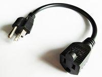 Cabo de adaptador de energia, USA NEMA 5-15P Plug to 5-15R Socket Outlet Tira Cabo de Extensão / 5pcs