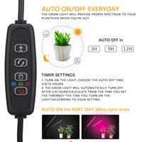 USB 4 head Full Spectrum LED Grow Lights 110*80*620mm Tube 5W 10W 15W 20W Customizable with 9 Dimming Leves and 360 Degree Flexible for Indoor Vegetable Plant Seeding