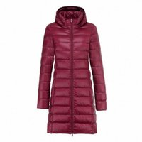 Women Winter Puffy Jackets 2020 New Hood Removable Woman Slim White Duck Down Coat Female Portable Fluffy Long Down Coats i7gC#