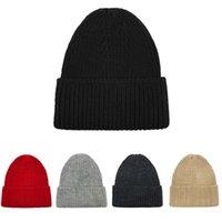 Beanie Skull Caps Winter Knitted Skullies Beanies Warm Solid Color Soft Hip Hop Hat For Men Women Casual Bonnet Unisex