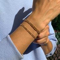 Link, Chain Ingemark Punk Trendy Bracelet For Men Hand Charm Geometric Cuban Bracelets Bangles Male Pulseras Mujer Jewelry 2021 Trend