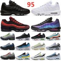 95 الاحذية الثلاثي الأسود الليزر الأبيض الليزر الفوشيه الأحمر المدار bred أكوا النيون 95 ثانية الرجال والنساء المدربين الرياضة أحذية رياضية الحجم 36-45