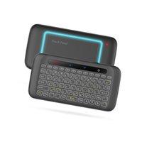Luminoso H20 Mini tastiera wireless tastiera wireless Touchpad Air Mouse IR Prining Telecomando per Andorid Box Smart TV Windows