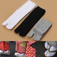 Men's Socks 1Pairs Breathable Two Fingers Practical Unisex Japanese Kimono Flip Flop Sandal Split Toe Tabi Ninja Geta