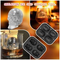 Creative Silicone XL 4 Whiskey Puck Moule Glace Coffret Coffret Heladera Para Hacer Helados Moule Glace Moules de cuisson