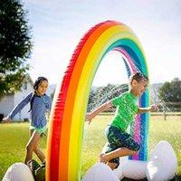 Bambini spruzzatore giocattolo gonfiabile acqua spruzzo acqua spruzzata piscina giocando a rainbow spruzzatore mat yard all'aperto divertimento piscine H1015