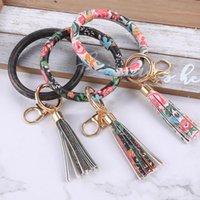 Makersland Clé Chaîne Big O Cercle Perles en Bois Pendentif Tassel Porte-clés Femmes Bracelet Porte-bracelet Bracelet Bracelet Bracelet Accessoires Keychains