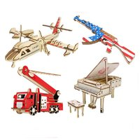 3d خشبية لغز قارب منزل بندقية طائرة فيريس عجلة البومة ألعاب مضحك diy التجمع نموذج اليدوية التعليمية تعلم اللعب للأطفال أطفال بنات هدية