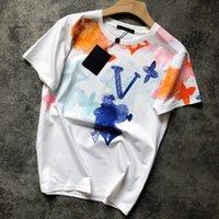 2021 Hombres Camiseta de lujo de la moda Camiseta de la moda de la flor de la flor de los hombres de las mujeres de las mujeres camisas de las camisas que absorben sudor el secado rápido