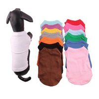 Dog Apparel Small T Summer Solid Dog Fashion Classic Shirts Cotton Clothes Pet Apparel Quickily Delivery ULQS RWJ4
