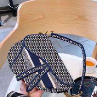 Alta Qualidade Marca Designer Saco Senhoras Crossbody Bolsas De Ombro Padrão Bordado Padrão De Moda Paris Estilo Com Caixa Original