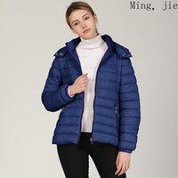 2021 European American New Style Casual Kurzer Frauen Gepolsterte Jacke, Unterlicht und Massivfarbe Herbst- und Winter-gepolsterte Jacke