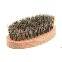 Natural Boar Bristles Beard Brushes Portable Wooden Bathroom Facial Massage Cleaning Brush Household Beauty Clean Tool EWF7098