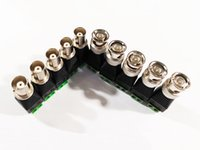 Adaptador de conector de enchufe de alta calidad BNC + hembra a AV Terminales enchufe adaptador para sistemas CCTV / 10PAILS (20pcs)
